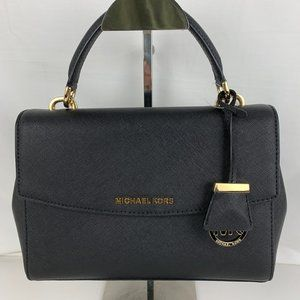 New Michael Kors Ava Small Leather Satchel